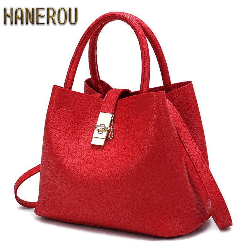 5f15d261d2e Women Fashion Autumn Shoulder Bag Handbags Pu Leather Bucket Casual ...