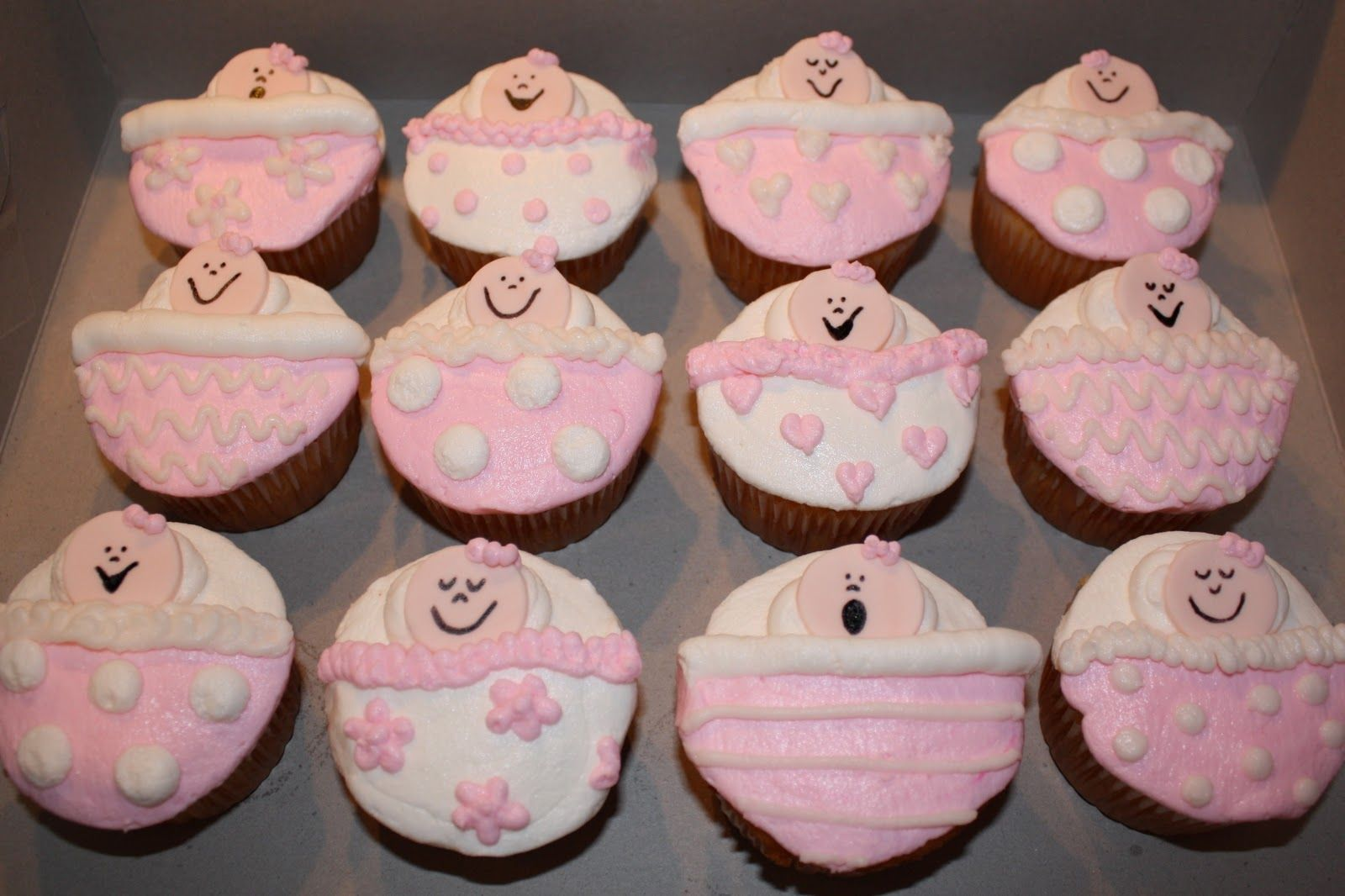 1000 images about baby shower on pinterest baby shower for Baby shower cupcake decoration ideas
