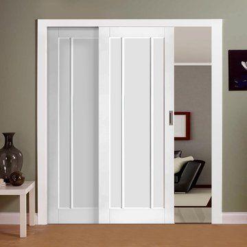Superior Easi Slide OP1 White Worcester 3 Panel Sliding Door System In Four Size  Widths   Worcester, Sliding Door And Sliding Door Systems