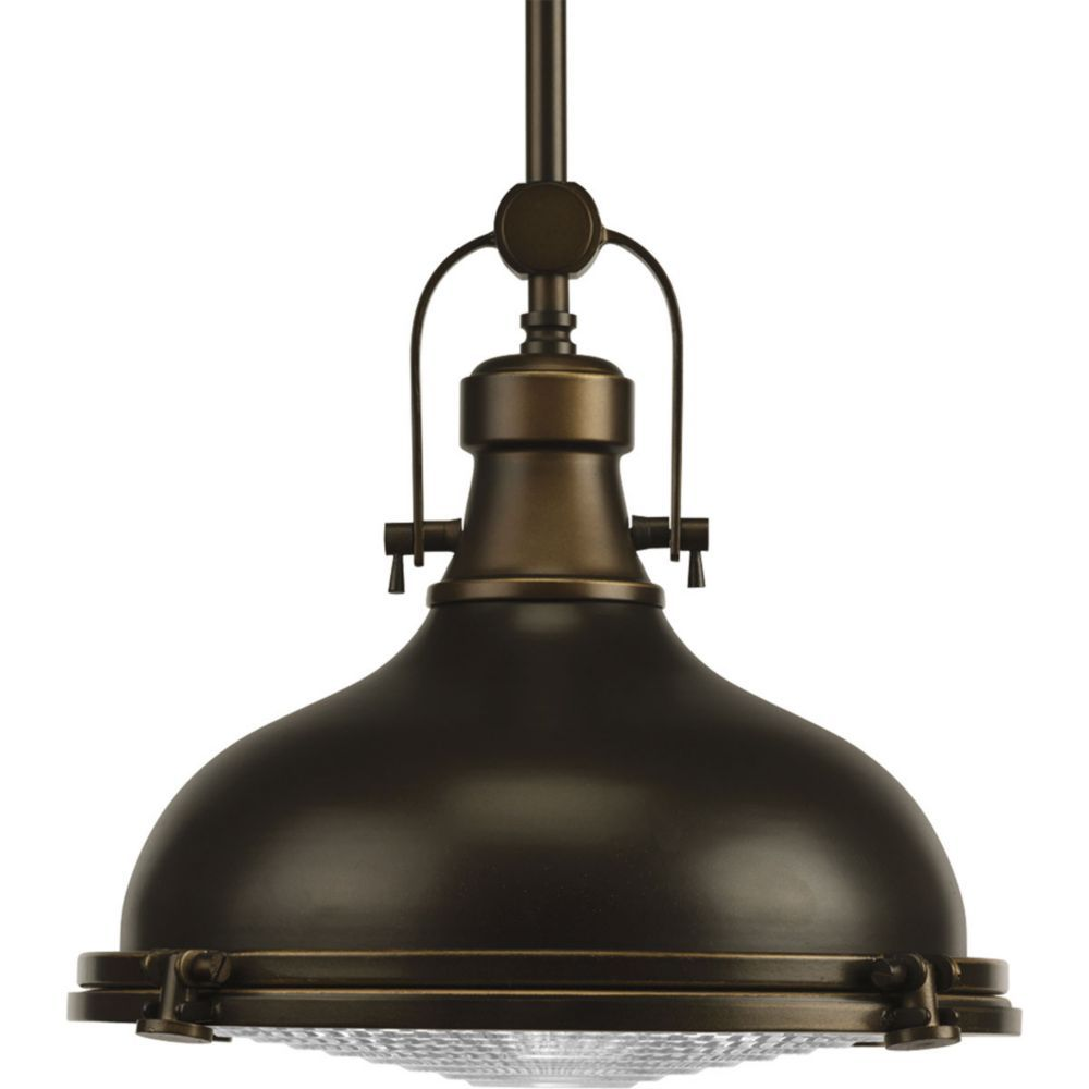 Fresnel Collection Oil Rubbed Bronze 1-light Pendant | The Home ...