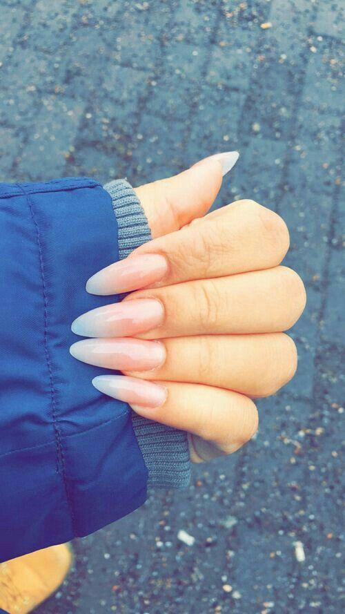 Surprisingly I Love This Shape Long Almond Nails Natural Nails Natural Nail Designs
