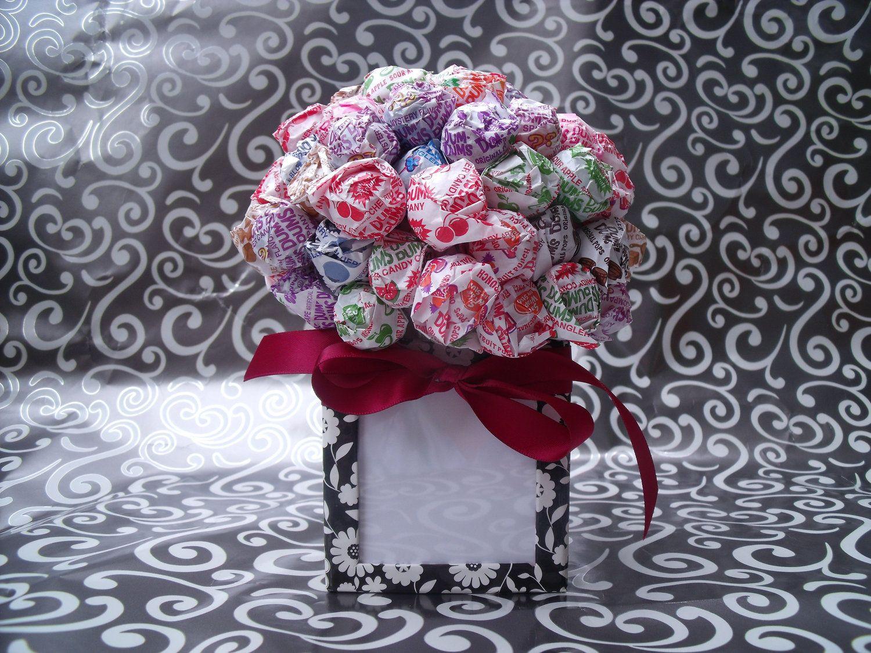 candy bar bouquet | Dum Dum Lollipop Candy Bouquet / Picture Frame ...