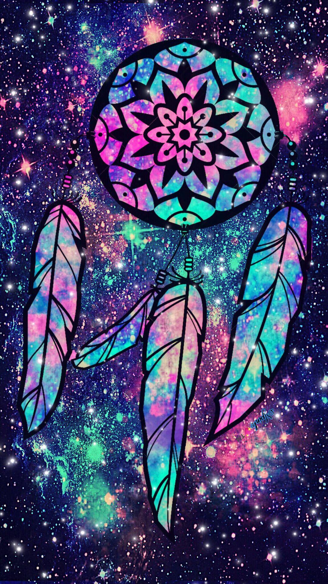 Midnight Dreamcatcher Galaxy Wallpaper androidwallpaper