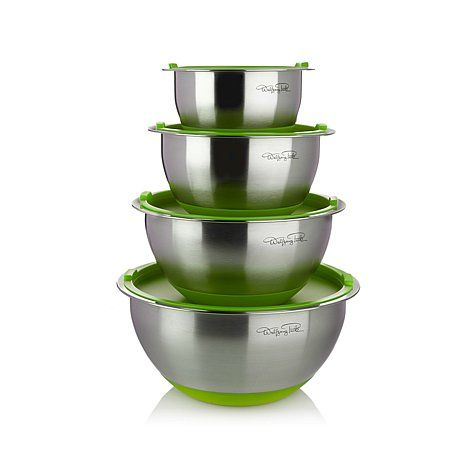 Wolfgang Puck 8-piece Stainless Steel Mixing Bowl Set with Silicone Bases at HSN.com