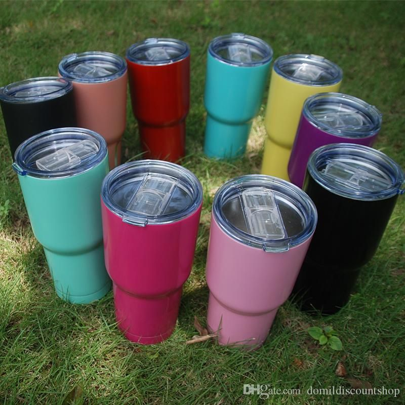 Wholesale Blanks Powder Coated Colored Tumblers Plain Solid