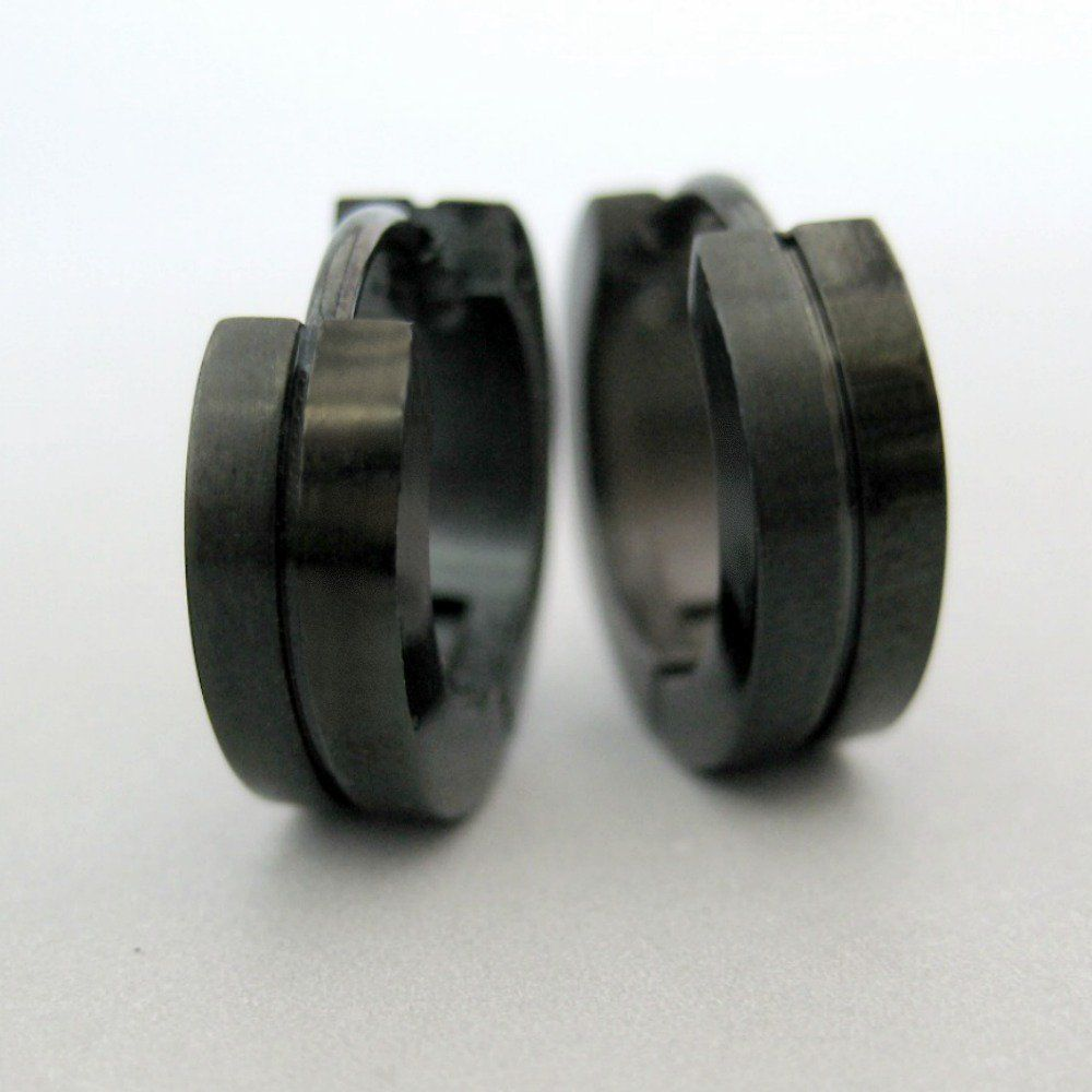 Black Stainless Steel Earrings Guys Earrings Mens Earrings Huggie