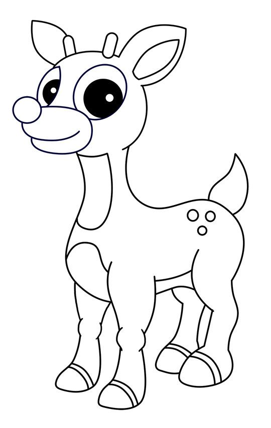 Http Www How To Draw Cartoons Online Com Image Files Rudolph The Red Nosed Reindeer 8 Jpg In 2020 Reindeer Drawing Rudolph The Red Red Nosed Reindeer