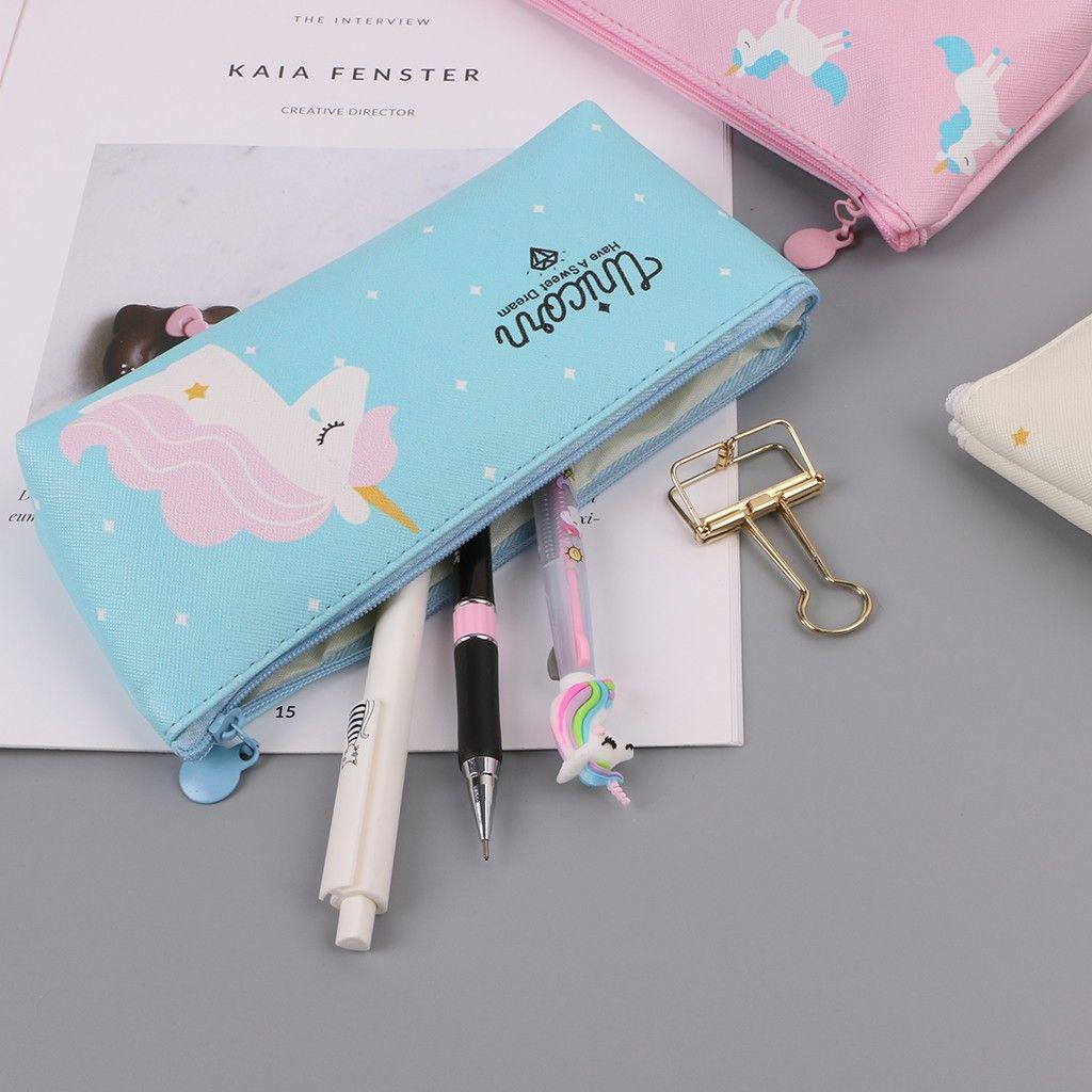 LIVI Unicorn Pencil Case School Supplies Cosmetic Pouch
