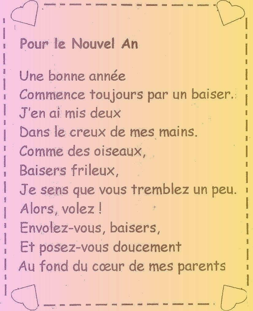 Poème Bonne Année Maternelle Poème Bonne Année Bonne