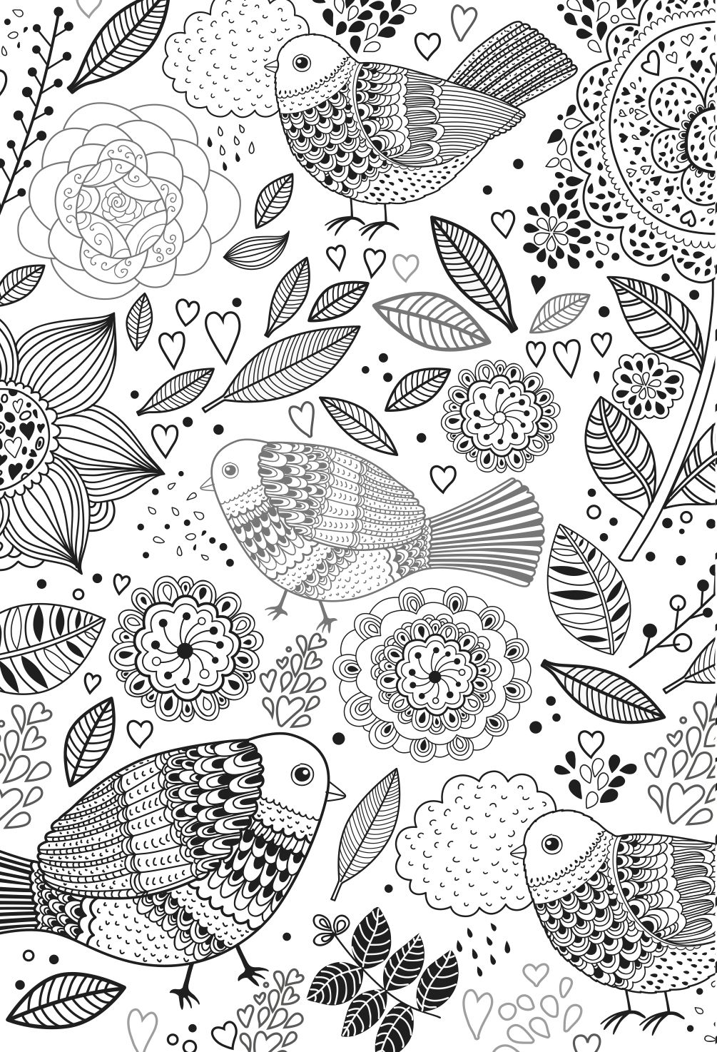 Colouring books for adults coloriages ado adultes - Dessin a colorier pour adulte ...