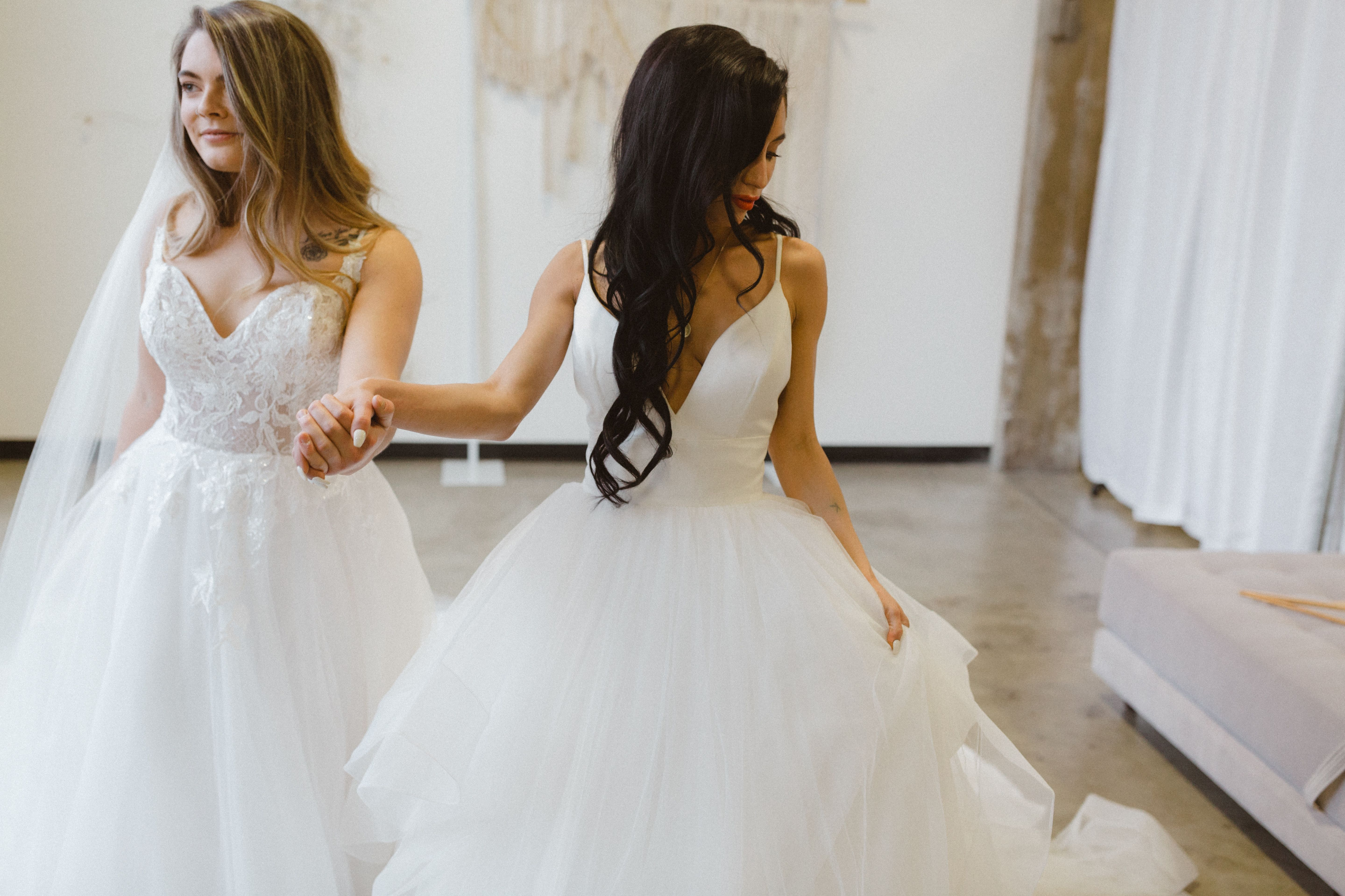 Come Shop With Your Best Friends For Your Big Day Ivory Bridal Bridal Gowns Bridal