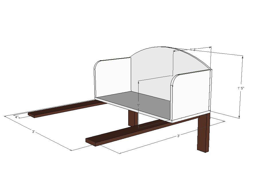 DIY cosleeper bassinet http://ordinaryhappilyeverafter.com ...