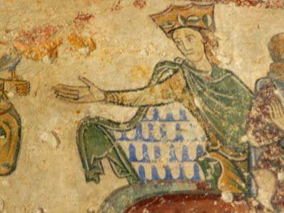 Leonor de Aquitania. Pinturas de Radegonde de Chinon.