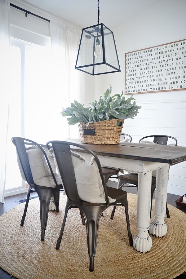 Rustic metal u0026 wood dining chairs with