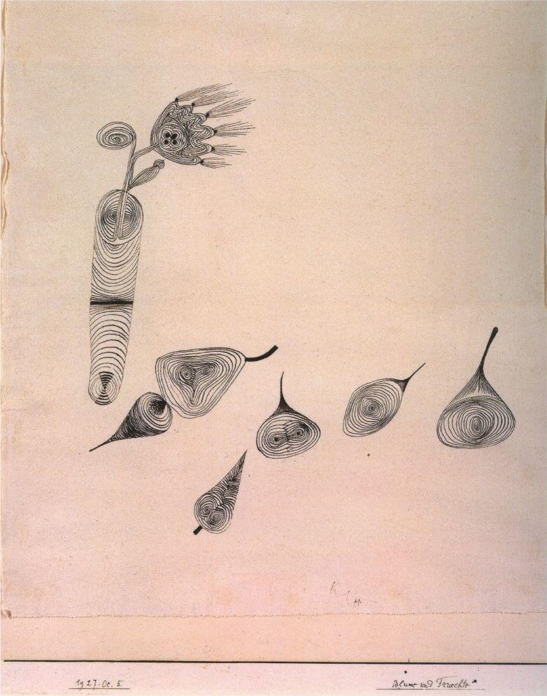 'Blumen und Früchte' by Paul Klee