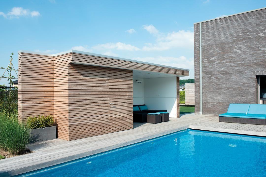 Houten Poolhouse, Houten Gastenverblijven u003e Modern Bogarden - moderne gartengestaltung mit pool