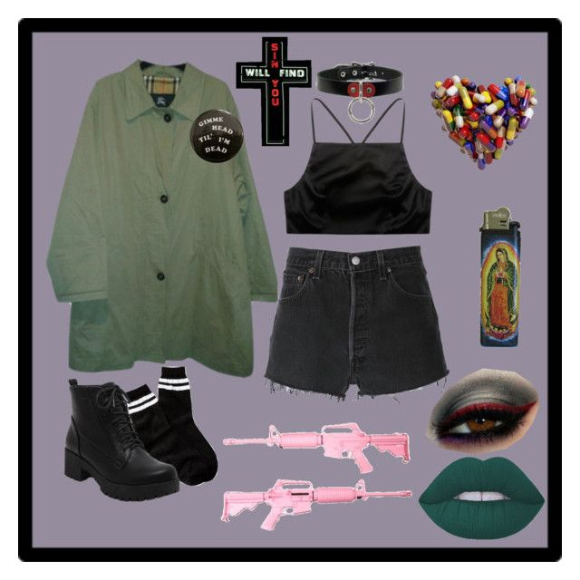 """""""Sin Will Find You"""" by mredge ❤ liked on Polyvore featuring Burberry, Prae, Free Press and RE/DONE"""