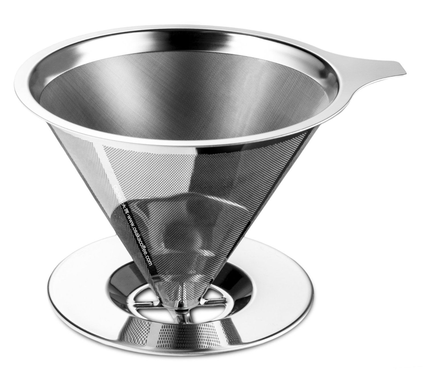 Osaka Stainless Steel Pour Over Cone Dripper Reusable Coffee Filter