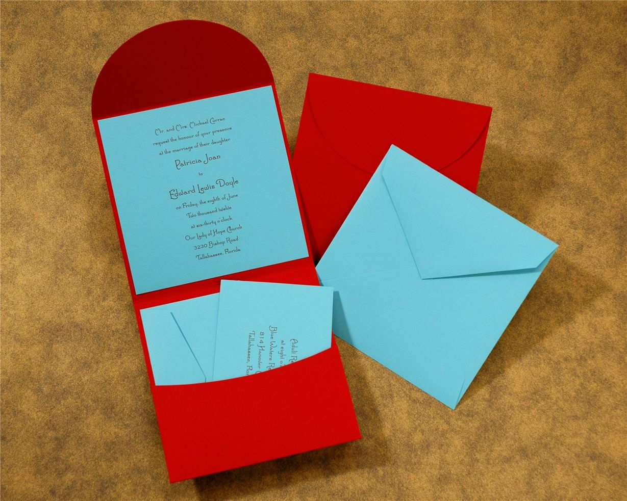 Ice blue + cherry red invitations | Wedding | Pinterest | Weddings ...