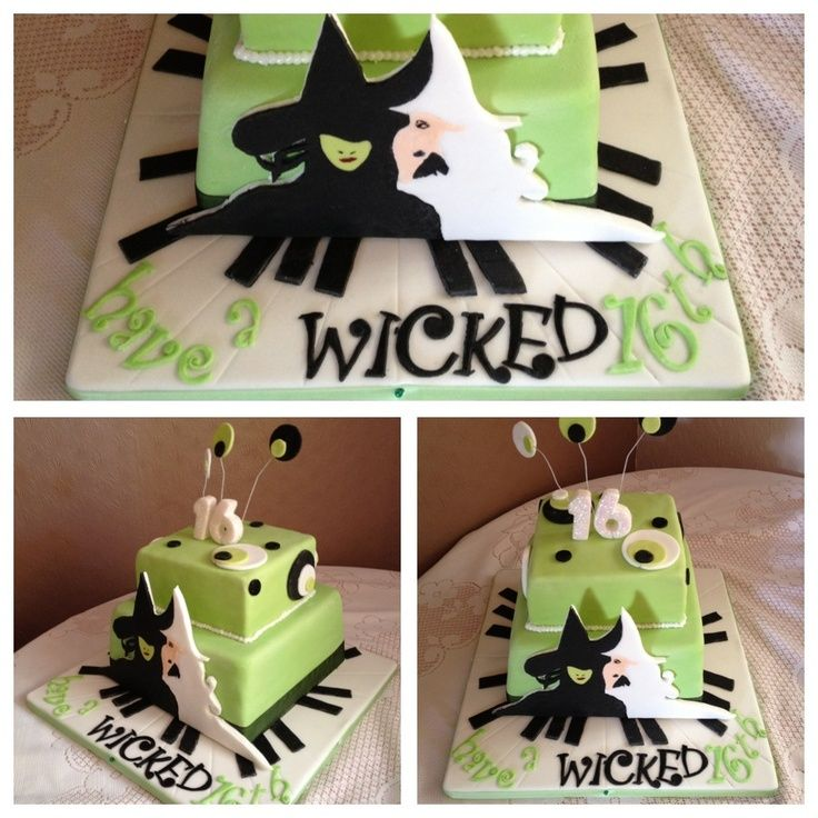 Wicked The Musical Cake Wicked Themed Musical Cake For Musical Theatre