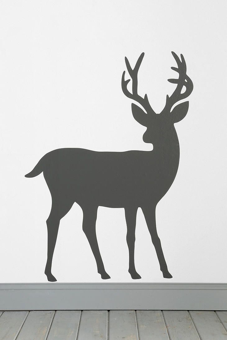 Deer wall decal urban outfitters this would be so awesome on our giant wall for christmas decor love it