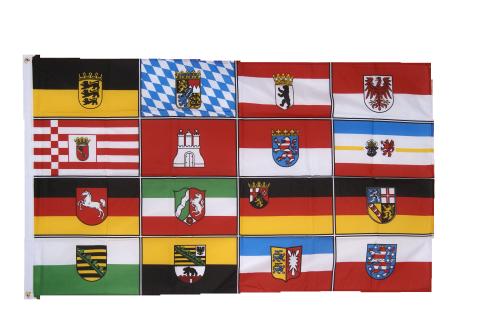 Drapeau Allemagne les 8 Régions