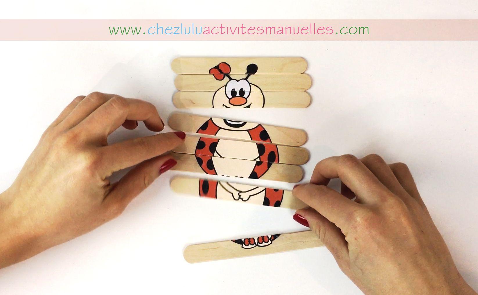 Voici un petit air de printemps ! Un puzzle coccinelle à fabriquer grâce à des bâtons de glaces ! C'est facile à faire et ça ne coûte pas cher ! :) Amusez-vous bien !