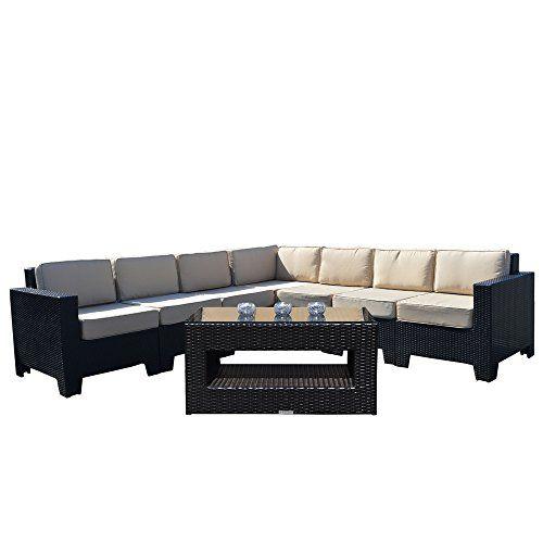 Premium Modular Corner Sofa Set with Coffee Table in Black All ...