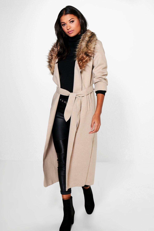 Emily Faux Fur Collar Coat | *BooHoo | Pinterest | Faux fur collar ...