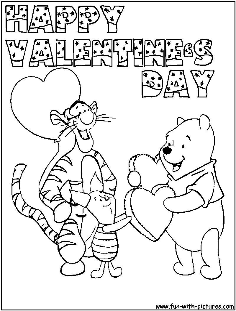 valentines day coloring pages - Valentines Day Coloring Pages