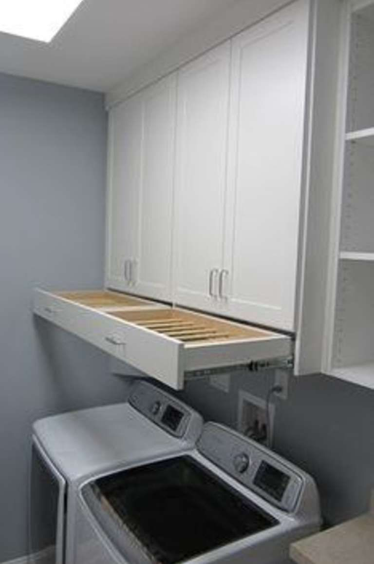 14. Install A Hideaway Drying Rack! | The Laundry Room/Mud Room ...