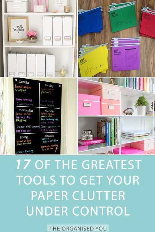 How To Organise The Paper Clutter Inspiration Home Office