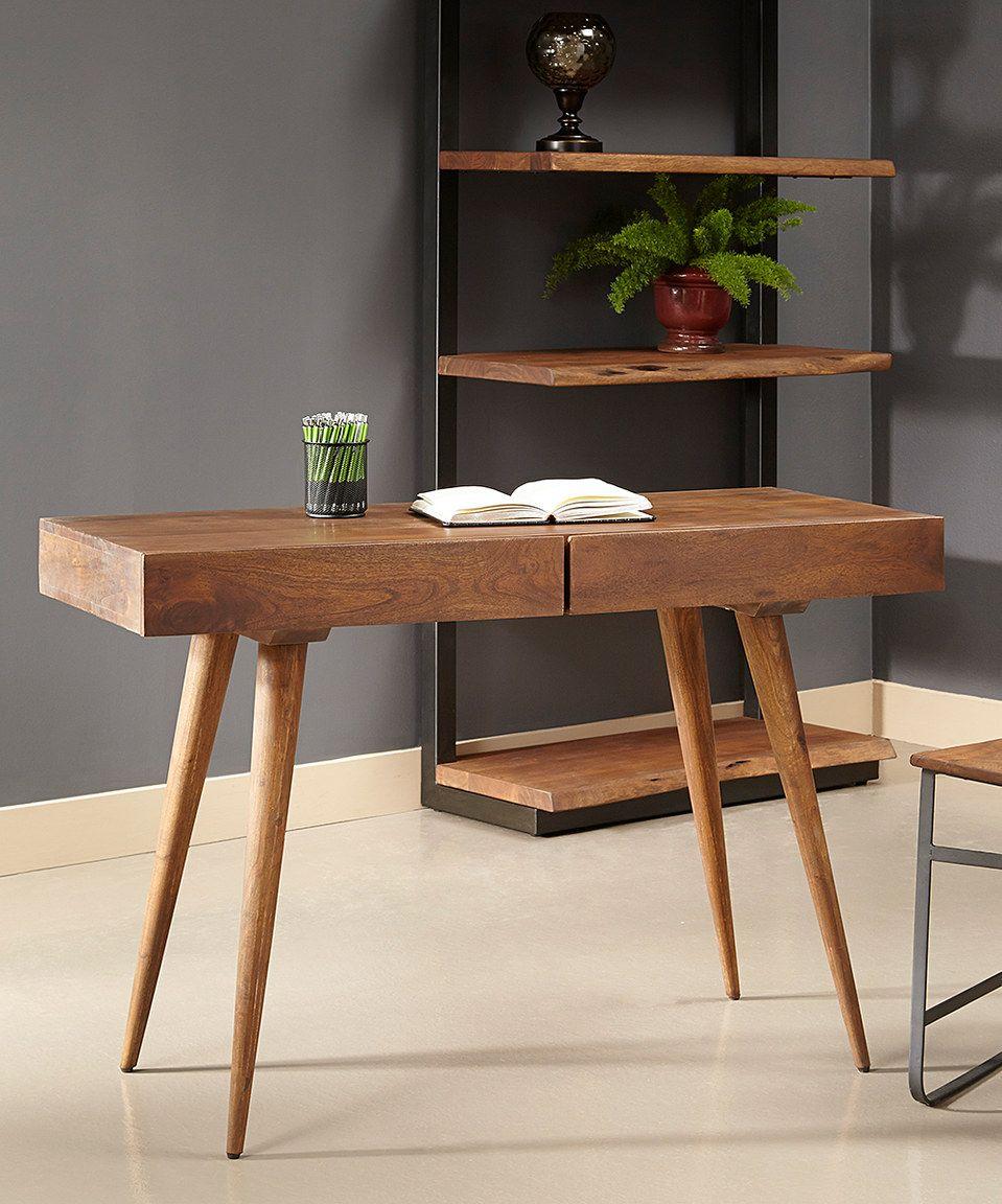 Look at this #zulilyfind! Acacia Wood Two-Drawer Writing Desk by Coast to Coast #zulilyfinds