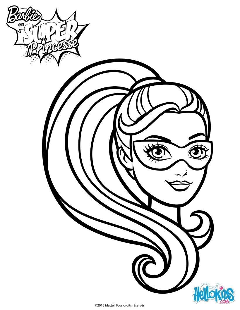 Add Some Colors Of Your Imagination And Make This Barbie Super Hero Mask Printable Nice Colorful You Can Color Lovely Picture Online With