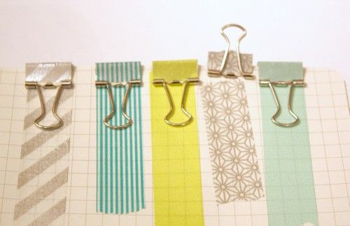washi and binder clips