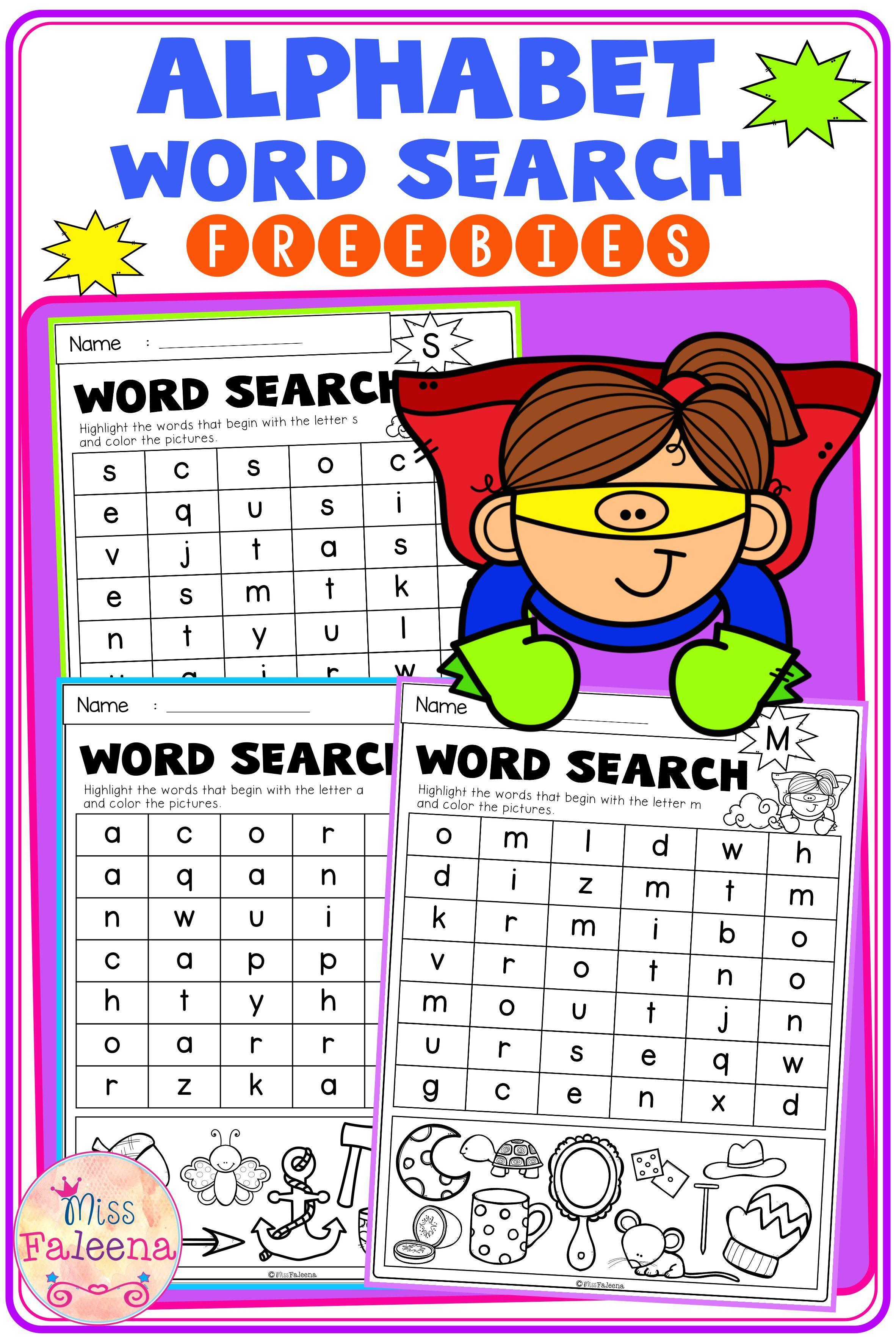 Free Alphabet Word Search Di