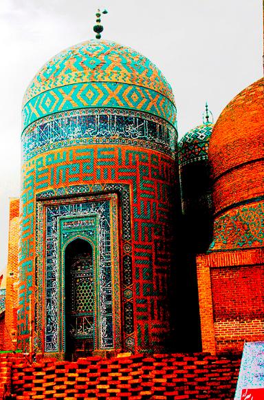 Iranian architecture + mosaics