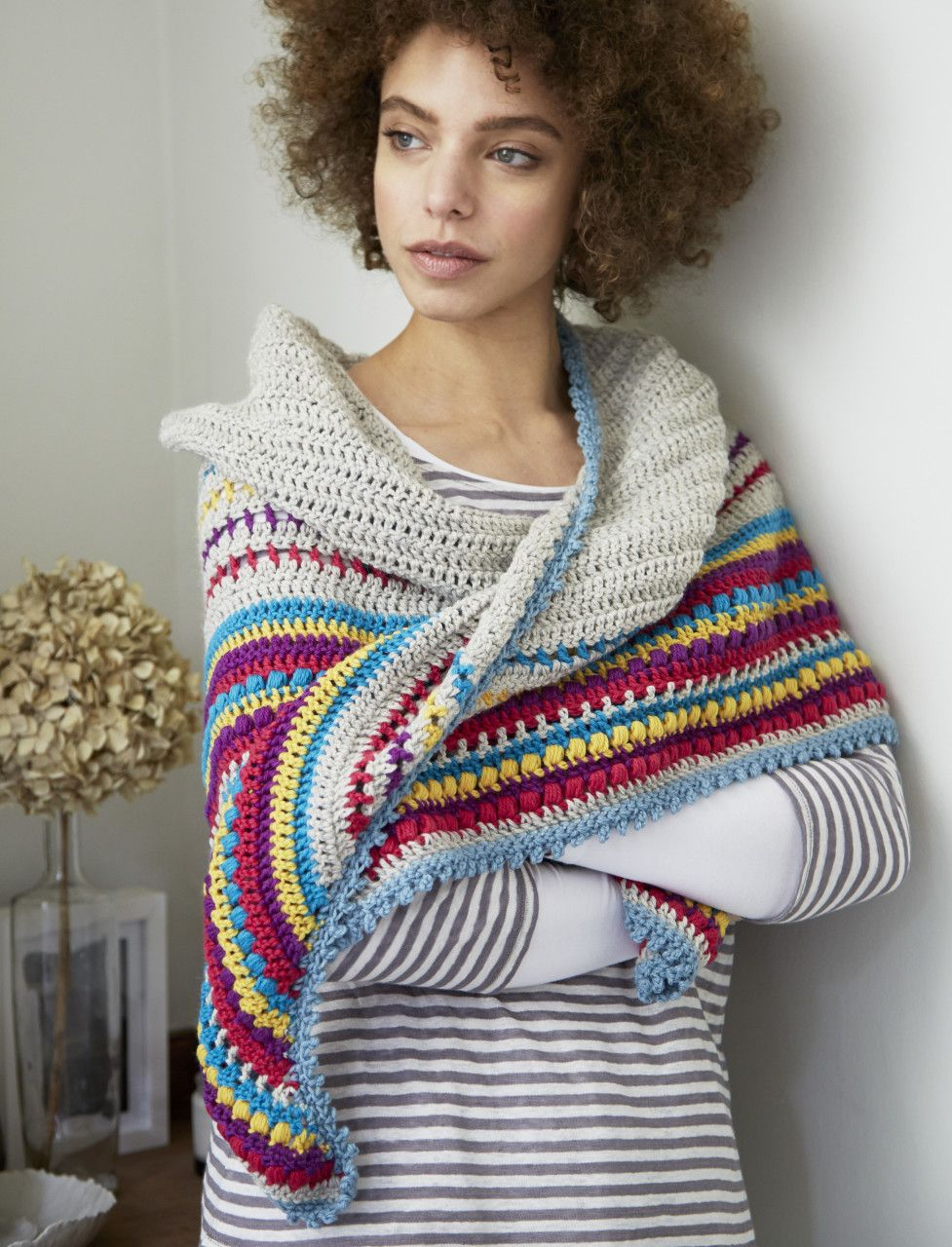 Stash-buster Stripes Shawl By Laura - Free Crochet Pattern ...
