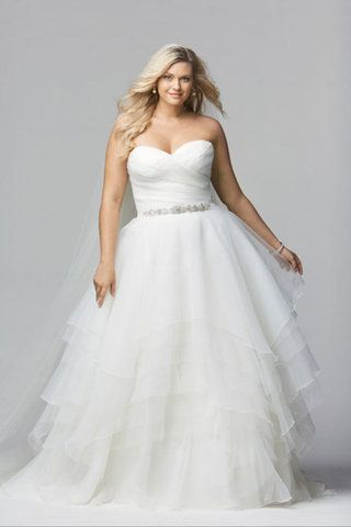 72fc91f340e How to Pick a Wedding Dress that Hides Your Belly Fat