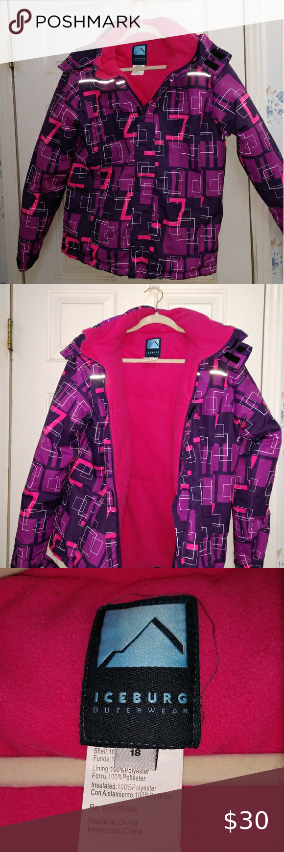 Iceberg Outerwear Geometric Winter Snow Jacket Clothes Design Fashion Fashion Trends [ 1740 x 580 Pixel ]