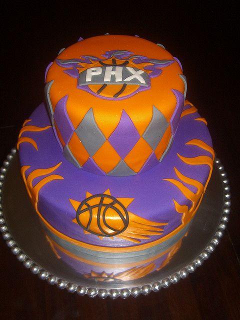 Sensational Phoenix Suns Cake Sun Cake Phoenix Suns Devin Booker Personalised Birthday Cards Paralily Jamesorg