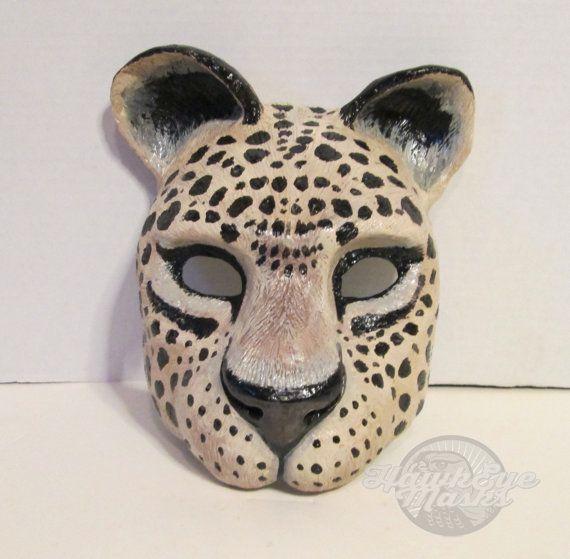 Jaguar Masquerade mask wild animal mask jungle cat by