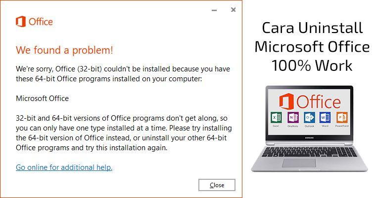 Cara Uninstall Office Yang Tidak Bisa Dihapus Microsoft Aplikasi Penghapus