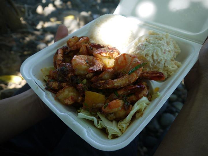 Geste Shrimp Truck on Maui: it's near the airport, so it's the perfect place to stop for a meal right after you land. Soooo good.