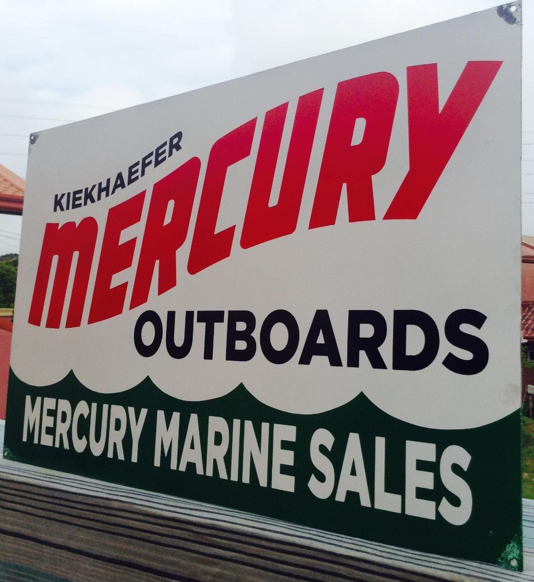 Mercury Outboard Dealers >> Vintage Mercury Outboard Marine Engine Boat Dealer Metal