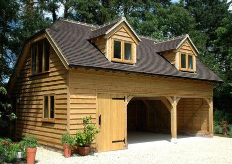 Oak Framed Garages House Exterior Garage Guest House Small