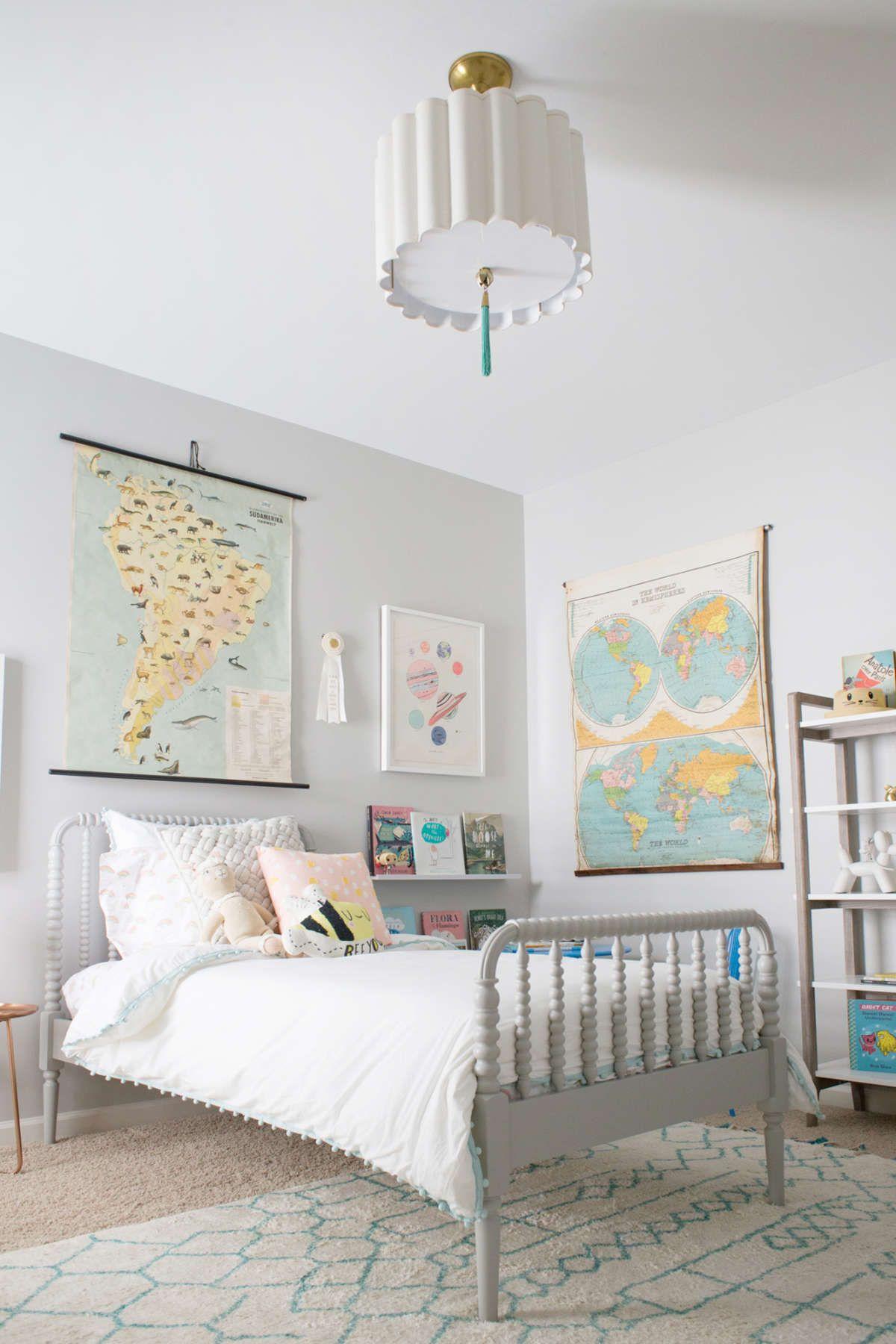 A Travel Inspired Big Girl Room Lay Baby Lay Kid Room Decor Big Girl Rooms Girl Room
