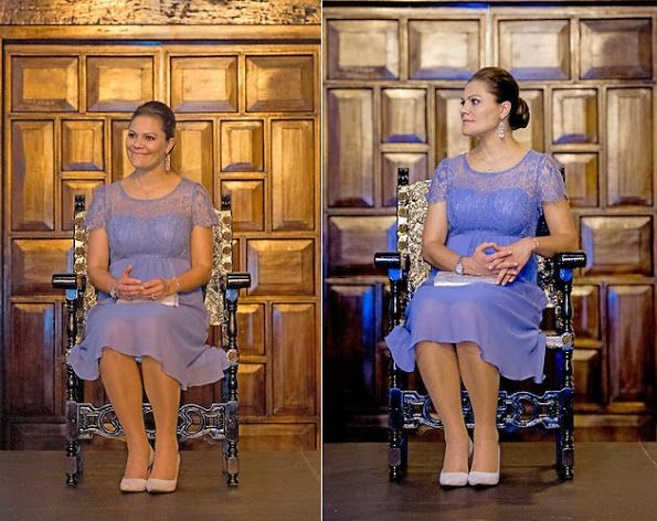 21 October 2015 - Royal tour to South America - Colombia (day 1) - dress by Seraphine