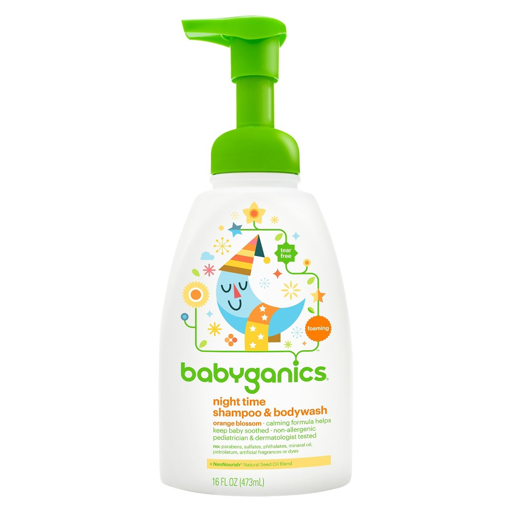 Babyganics Night Time Baby Shampoo Body Wash Orange Blossom