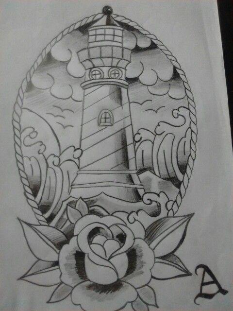 Drawing old school farol tattoo tattoos pinterest for Tattoo school listings